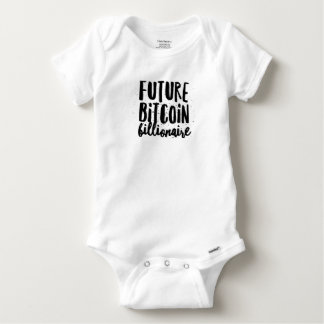 Body Para Bebê Bebê futuro do multimilionário de Bitcoin