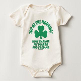Body Para Bebê Bebê irlandês - parte superior da manhã!
