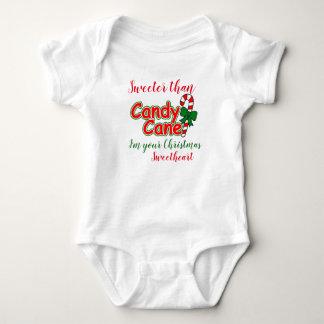 Body Para Bebê Bebê mais doce do que o querido do Natal do bastão