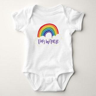 Body Para Bebê Bebê minúsculo do arco-íris do milagre