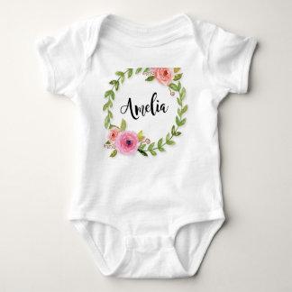 Body Para Bebê Bebê Monogrammed uma parte