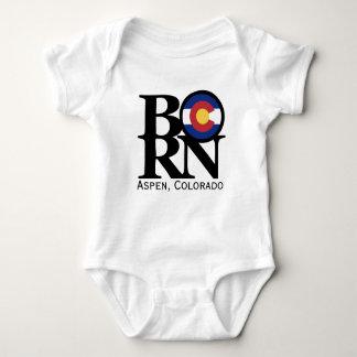 Body Para Bebê Bebê NASCIDO de Aspen Colorado uma parte