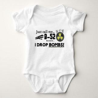 Body Para Bebê Bebê Onsie infantil - bombardeiro B-52 engraçado