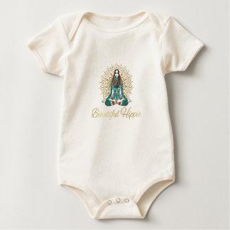 Body Para Bebê Bebê orgânico do Hippie bonito