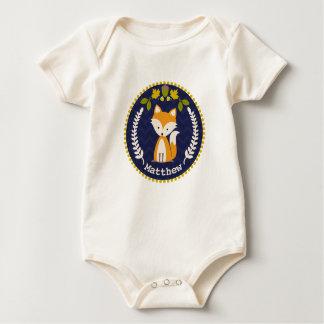 Body Para Bebê Bebé personalizado grinalda do Fox