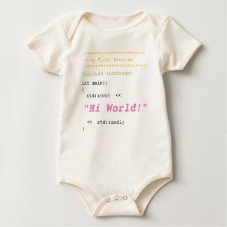 Body Para Bebê Bebé primeiro C++ Programa