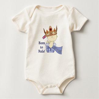 Body Para Bebê Bebê real com coroa/nascer à regra!