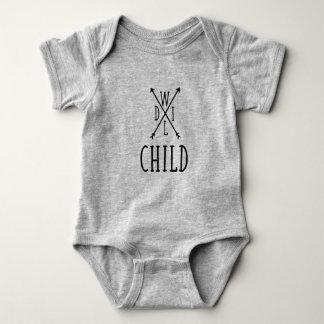 Body Para Bebê Bebê selvagem da criança um T da parte