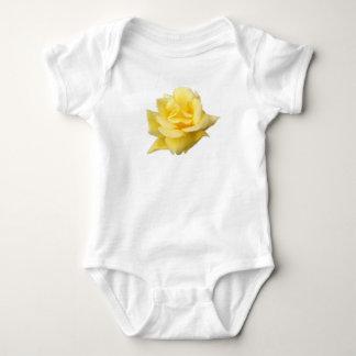 Body Para Bebê Bebê-T do algodão do rosa amarelo