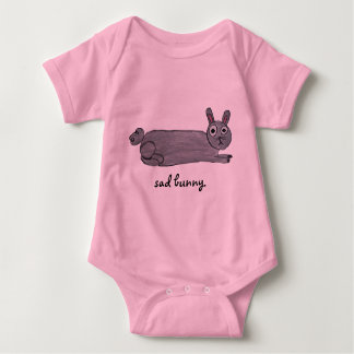 Body Para Bebê Bebê triste do coelho