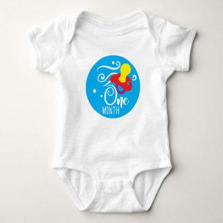 Body Para Bebê Bebé veste do marco miliário de 1 mês