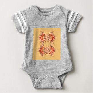 Body Para Bebê Bege vermelho exótico dos elementos do design