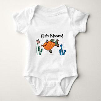 Body Para Bebê Beijos dos peixes da mamã e do bebê