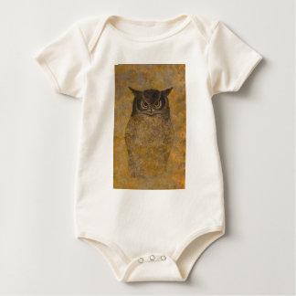Body Para Bebê Belas artes do japonês da coruja