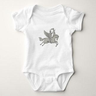 Body Para Bebê Bellerophon que monta Pegasus que guardara o