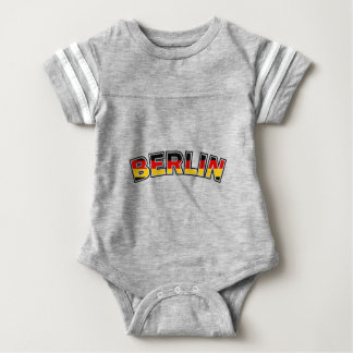 Body Para Bebê Berlin, text with Germany flag colors