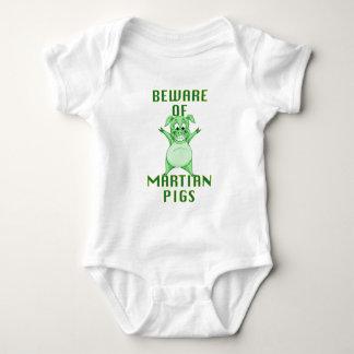 Body Para Bebê Beware dos porcos marcianos!