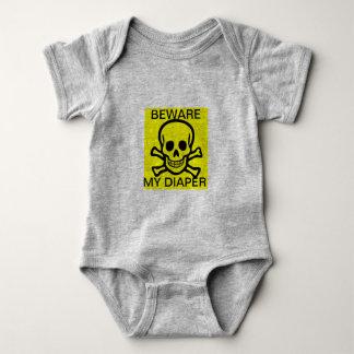 Body Para Bebê Beware minha fralda