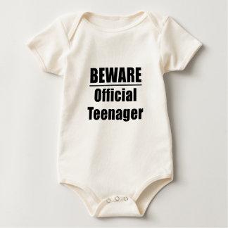 Body Para Bebê Beware o adolescente oficial