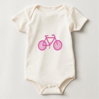 Body Para Bebê Bicicleta cor-de-rosa