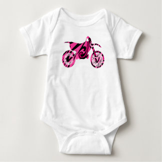 Body Para Bebê Bicicleta cor-de-rosa psicadélico da sujeira das