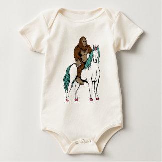 Body Para Bebê Bigfoot que monta um unicórnio