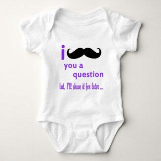 Body Para Bebê Bigode você um modelo de Qpc da pergunta