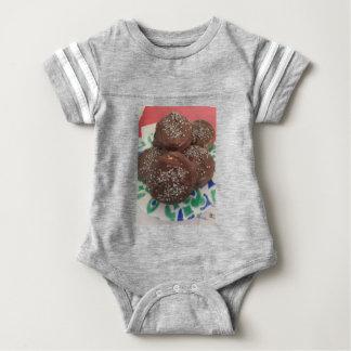 Body Para Bebê Biscoitos caseiros do chocolate