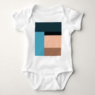 Body Para Bebê Bloco da cor do sorvete