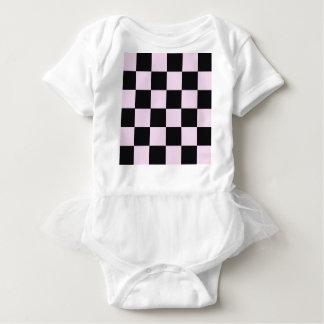 Body Para Bebê Blocos cor-de-rosa Funky do preto