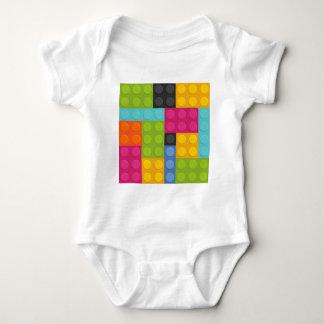 Body Para Bebê blocos de apartamentos cor-de-rosa
