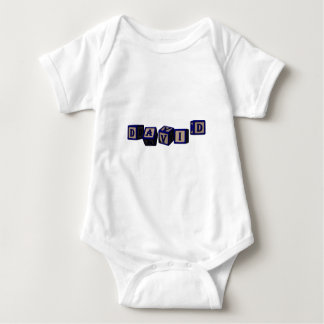 Body Para Bebê Blocos do brinquedo de David no azul