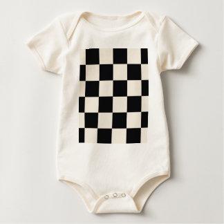 Body Para Bebê Blocos Khaki Funky do preto