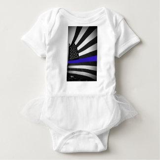 Body Para Bebê Blue Line fino