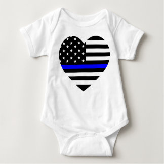 Body Para Bebê Blue Line fino - bandeira americana