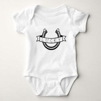 Body Para Bebê Boa sorte em ferradura afortunada