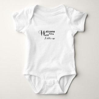 Body Para Bebê Boa vinda jérsei pequeno do bebê do mundo ao um