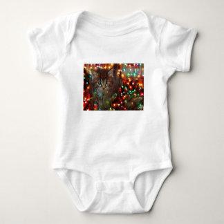 Body Para Bebê Boas festas do gatinho