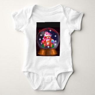 Body Para Bebê Boas festas globo da neve