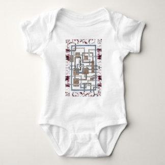 """Body Para Bebê Body bebé """"Labirinto e flores de cerejeira """""""