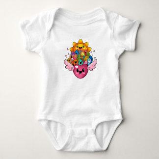 Body Para Bebê Body Doodles coração e sol
