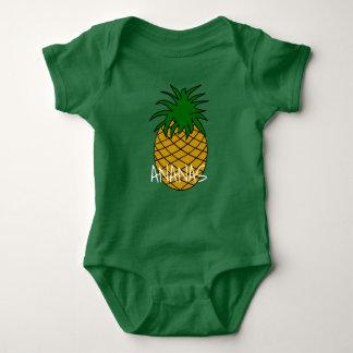 Body Para Bebê Body em jersey para bebé Ananás