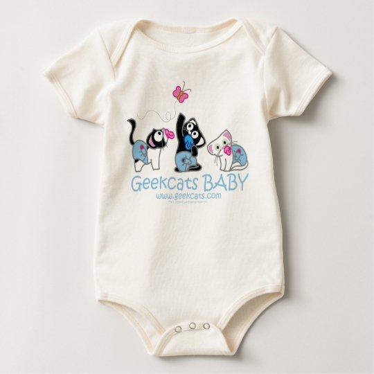 Body Para Bebê Body Orgânico Geekcats Baby