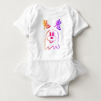 Body Para Bebê Bodysuit 1 do tutu do bebê do 鬼鬼 do branco & do
