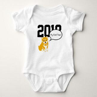 Body Para Bebê Bodysuit 2018 do bebê de W do ano do cão de Shiba