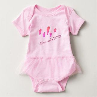 Body Para Bebê Bodysuit à moda original do tutu do bebê do amor