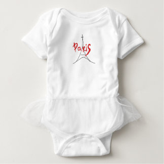 Body Para Bebê Bodysuit à moda vermelho da saia do bebê de Paris