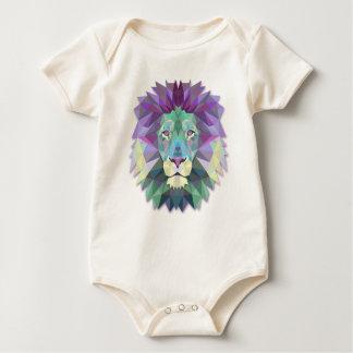 Body Para Bebê Bodysuit abstrato elegante colorido do polígono do