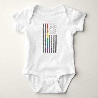 Body Para Bebê Bodysuit americano do bebê da bandeira do orgulho