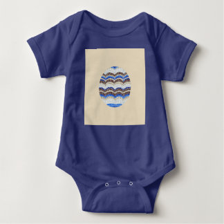Body Para Bebê Bodysuit azul redondo do jérsei do bebê do mosaico